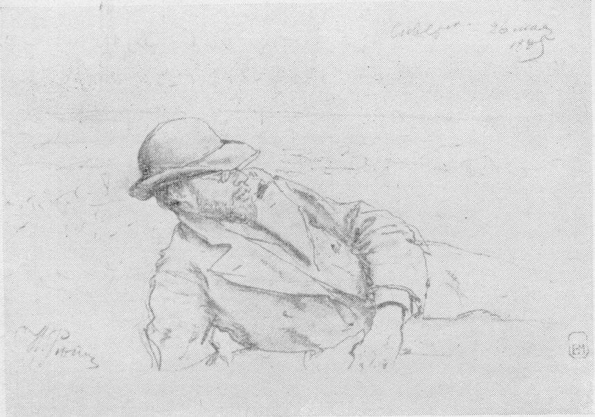 И.Е. Репин. Н.Н. Дубовской. Рисунок, 1885 г