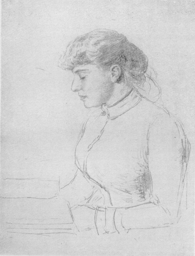 И.Е. Репин. Е.Н. Званцева. Рисунок, 1889—1890 г.